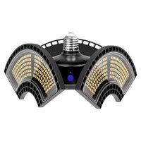 E27 LED lampe de garage pliante déformable LED Lampe d'éclairage industriel super lumineux 60W 80W 100W 120W UFO High Bay Lampe industrielle pour entrepôt