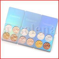 Cmaadu Yüz Makyaj Vurgulayıcı 4 Renkler Mini Dream Yüksek Işık Paleti Göz Farı Vurgulama Pırıltılı Glitter Kozmetik