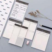 Carta Memo Pad Daily Planner Desk Desk Desk Elenco di controllo Blocco note per la lista di forniture per ufficio scolastico