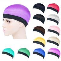 Chapeau de dôme soyeux pour hommes couleurs solides couleurs de mode dôme de mode Casual Outdoor unisexe elasex vague chapeaux large bande stretchy wig chimio chapeau e122810