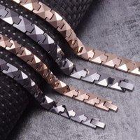 Link, Chaîne arrow Bracelet en tungstène anti-rayures Hommes Hématite Magnetic Couple Couple Bracelets en carbure Avantages Bracelet Rose Link1