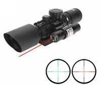 3-10x42eg Jakt Scope Tactical Optics Reflex Sight RiflesCope Picatinny Weaver Mount Red Green Dot med röd laser rifle räckvidd