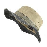 Cloches Voboom Kova Şapkalar Erkekler Kadınlar Için Yıkanmış Pamuk Panama Şapka Yaz Balıkçılık Avcılık Kap Güneş Koruma Kapaklar 139
