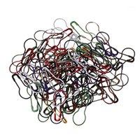 Швейные понятия Инструменты красочные 100 шт. Смешанные цвета Медный вязание вязание вязание вязание крючком, фиксирующие стежка маркеры защелки