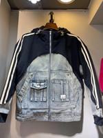 2021 겨울 새로운 남성 디자이너 데님 스티치 따뜻한 데이익 자켓 유지 ~ 중국어 크기 재킷 ~ 남성용 고품질 데이신 재킷