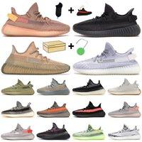 2021 Kanye Homens Sapatos Ao Ar Livre Treinadores Treinadores de Carbono Semi Semi Congelado Sésamo Amarelo Nuvem Branco Terra Mens Outdoor Sneaker com caixa