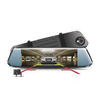 """Nuovo schermo dell'automobile DVR curvo 7"""" flusso specchio retrovisore Dash cam Full HD 1080 Camera Car Video Record con 2.5D vetro curvato"""