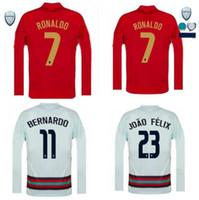 Manche longue 2020/21 Ronaldo Soccer Jerseys Joao Felix Neves Bernardo Cancelo Ruben National Team Shirte de football 20 21