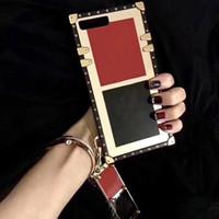 Caso del telefono quadrato di lusso per iPhone 12 Mini 12 11 Pro Max XS XR X Designer Case per iPhone SE 2020 7 Plus 8 6S 6 per Samsung