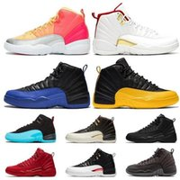 12 pas cher New 12s OVO Blanc Jeu Royal Blue inverse Taxi Gris foncé Basketball Chaussures Hommes Le Master grippe jeu FIBA ​​Sneakers
