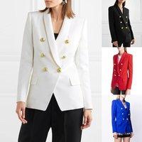 2020 Женская одежда Европа и Америка Взрывы осень / Зима Новые Сплошные Цветные Кнопки Мода Маленький Костюм Куртка Женщин1