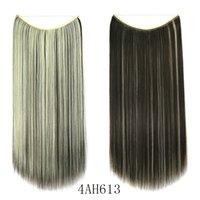 60см / 100г волосы производители занавес оптовых химического волокно леска волосы занавес прямого hairseamless наращивание волос кусок