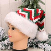 크리스마스 산타 클로스 모자 빨간색과 흰색 모자 파티 모자 의상 장식 아이 꼬마