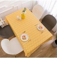 Tischdecke gelb Plaid Tischdecke Nordic wasserdicht PVC Anti-Branding-Ölklappen Große Größe Staubdichte Essensabdeckung W