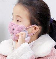 Цвета рта Защитные дети / для взрослых Маска 15 Размер Милый ушной кошка медведь свинья дизайн 2 в 1 Зима теплые маски для лица пылезащитный