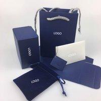 Łabędź Oryginalny Biżuteria Box Naszyjnik Bransoletka Pierścieniowa Pudełko zawierające Torby Biżuterii Gwarancja Karta Invoice Tote Torba