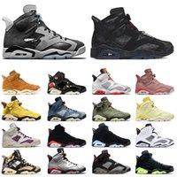 Nike air jordan retro 6 jordans 6s off white Yüksek Kaliteli Jumpman 6 6 S Erkek Bayan Basketbol Ayakkabı Singles Günü VI Pembe Çiçek Kaktüs Jack Hare Duman Gri Sneakers Eğitmenler