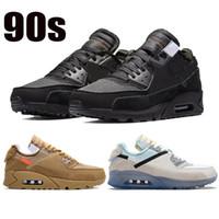 Nouveaux 1990s Blanc X 90S Cône Noir Coussin de coussin pour hommes Sneakers Femme Sports Desert Ore Chaussures Hommes Running Chaussures Taille US 5.5-11