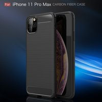 Custodia in fibra di carbonio per iPhone 11 12 Pro Mini X XR XS Max 6 6S 7 8 Plus Copertura per iPhone