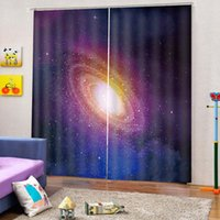3d Cortina Janela Fantasia Galaxy Planeta Sala Quarto lindamente decorado Cortinas