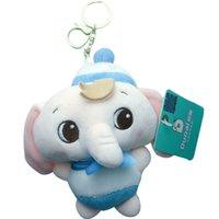 مصغرة الفيل القطيفة دمية محشوة قلادة سلسلة المفاتيح مفتاح سلسلة حامل حقيبة ديكور الحيوانات منفوش لعبة الدب هدايا
