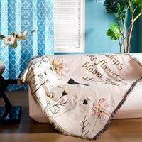 Одеяла мода коврик для пикника непрерывная система сельский диван полотенце средиземноморского стиля хлопковое одеяло обложки полотенца скатерть 135 * 160см