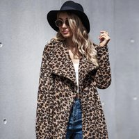 Women's Fur & Faux Autumn Winter Woolen Coat Ladies Long Sleeves Print Casual Thick Female Knit Sweater Stitching Loose Cardigans