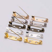 Spilla clip Pins Base 50pcs / lot 25 30 35 mm Safety Pin Spille Impostazioni Base vuoto per i monili di DIY che fanno Supplie accessori regalo di Natale