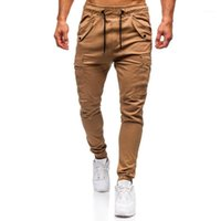 Erkek Pantolon Ince Spor Pantolon Koşu Joggers Erkekler Rahat Katı Sweatpants Elastik Spor Pantalones Hombre1