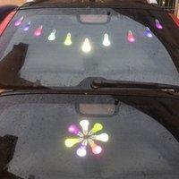 Lumières interiorexternales 14 pcs autocollants de l'automobile réfléchissant décoration festive décoration amovible animal de compagnie réutilisée réutilisée Eve 3d ampoule voiture lumières1