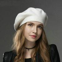 الشتاء السيدات القبعات قبعة صوف الكشمير قبعة المرأة عارضة قبعات بونيه عالية الجودة أنثى خمر محبوك كاب للبنات