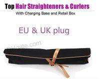 Corrale DHL مستقيم الشعر 2 في 1 الشعر بكرة الشعر فرد الشعر الفوشيه اللون في المخزون