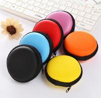 Mini Zipper-Taschen Earbuds USB-Kabel-Organisator Schutz Kopfhörer-Kasten Kopfhörer-Speicher-Beutel Weiche Headset Geldbörse Runde DDA711