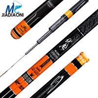 Jiadiaoni Portátil Rod Corriente Mano Pole Pole Pole Super Luz de Carbono 3.6M-7.2M Cañas de pescar al aire libre Tackles JDN098