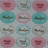 Спасибо Подарочный Упаковка Наклейка Круговой Цветочный Узор Этикетки Детки Наклейки Фестиваль Выпечки Пищевые Подарки Декор Ticky Бумага Горячие Продажи 0 28nt L2