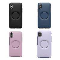 새로운 아이폰 6 기가 7 8 플러스 11 X X가 12 휴대폰 케이스 갤럭시 S10 S20UItra 대칭 거품 캡 팝 스탠드 베스트셀러