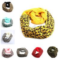 Leopard collare sciarpe di lana calda lavorata a maglia sciarpa del fazzoletto da collo del progettista di marca del Knit di inverno Sciarpa Uomini Donne Crochet Buff 9 colori D92404