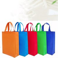 Blank Non-Woven Tote Bag Reusable Shopping Handbag 3-Dimensional Brand Advertising Promotional Gift Bags Accept Custom Logo Printing WY864DX