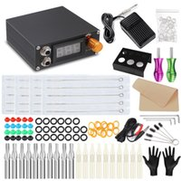Máquina de tatuagem conjunto genuíno acessórios práticos pacote profissional máquina de motor máquina completa conjunto de ferramentas consumíveis
