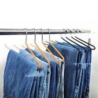 PVC Reçine Metal Ceket Askıları Siyah Mavi Gri Turuncu Pantolon Raf Kaz Şekli İleri Ters Kanca Pantolon Rafları Ev Depolama 1 78RM G2
