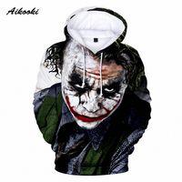 Aikooki الجديد جوكر بلوزات رجال العلامة التجارية هوديس الرجال جوكر الانتحار فرقة Deadshot 3D الطباعة هوديي ذكر رياضية قمم عارضة 14Bo #
