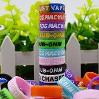 Lettera di rotocalco Vape Band con anelli in gomma in silicone colorato anelli per E-sigaretta MOD MOD Kit serbatoio in vetro Atomizzatore 23mm * 7mm * 1,5 mm