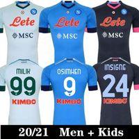 20 21 NAPOLI INSTIGNE Soccer Jerseys Naples Maradona Mertens Camicia da calcio Koulibaly Camiseta de fútbol Milik Maillots Uomo Kids Jersey