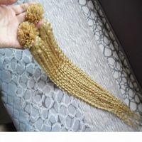 613 блондинки Virgin Hair U наконечник в человеческих волосах наращивание волос 100 г kinky вьющиеся вьющиеся кератиновые наконечники наклоне
