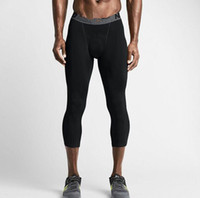 New Compression 3 4 Pants Fitness Quick Dry Running Pants Me...