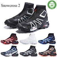 Salomon Snowcross CS pista de invierno la nieve Stiefel Negro Azul Volt Botas calcetín rojo zapatos Zapatos para hombre de la nieve del invierno formadores de arranque