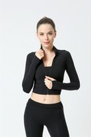 Mujeres Fitness Deportes Top Top Short Slim de manga larga Running Ropa de secado rápido Ropa deportiva Ropa de fitness Mujeres