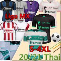 4XL LIGA MX 2020 2021 Jersey de football San Lagunatos Queretaro FC Camisetas de Fútbol Club Deportivo Guadalajara Chivas Homme Kits Chemise de football