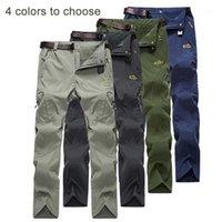 Pantalones de senderismo de secado rápido de los hombres transpirable fuerza elástica pantalones sueltos pesca al aire libre corriendo pantalones de concha suave1
