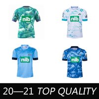 Mens 2021 Super alta qualidade Rugby Jersey Zealand Super Blues Hurricanes Crusaders Highlanders Chefess Rugby camisetas Top Quality